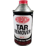 Vintage Automotive Tin - DuPont Tar Remover for Cars  - Old Cone Top Tin