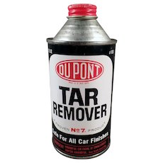 Vintage Cone Top Automotive Tin - DuPont Tar Remover for Cars