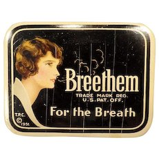 Vintage Medical Tin - Breethem For the Breath - Old Tin from the 1930's