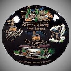 Vintage Souvenir Bowl - Palm Springs Aerial Tramway - Old Laquerware