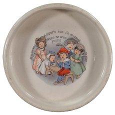 Vintage Baby Bowl - Tom the Piperu0027s Son - Old ABC Nursery Rhyme Dish  sc 1 st  Ruby Lane & Rhyme Nursery Porcelain u0026 Pottery | Ruby Lane