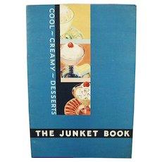 Vintage Recipe Booklet - Old Junket Cool Creamy Desserts Cook Book