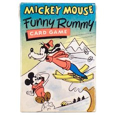 Vintage Card Game – Old Mickey Mouse Funny Rummy Card Game