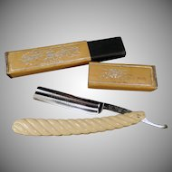Vintage Straight Razor with Original Box – Old Carbo-Magnetic Griffon XX Razor