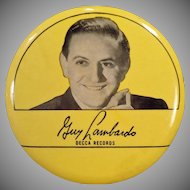 Vintage Record Duster – Guy Lombardo 1940's – Old Decca Records Advertising
