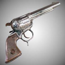 Vintage Roy Rogers Cap Pistol - Old Geo. Schmidt Toy Gun - 1950's