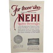 Vintage Nehi Premium Booklet – Old Nehi Beverages Product Catalog