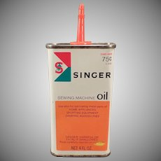Vintage Oil Tin - Old Singer Sewing Machine Oil Tin