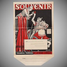 Vintage Tournament of Roses Parade Postcard Mailer - Old Rose Parade Souvenir - 1937