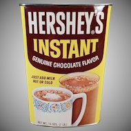 Vintage Hershey Instant Cocoa Tin – Colorful with Good Graphics – Advertising Collectible