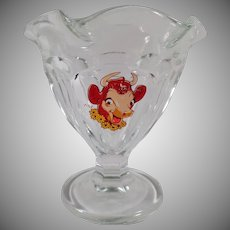 Vintage Elsie Sherbet - Old Borden Cow Advertising - 4 Dishes Available - 1950's - 1960's