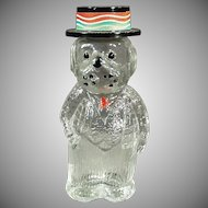 Vintage Figural Perfume Bottle - Dog Wearing a Hat - Lioret Label