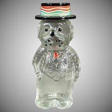 Vintage Perfume Bottle - Old Figural Perfume - Dog Wearing a Hat - Lioret Label