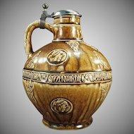 Vintage Stoneware Jug - Stein Makers Reinhold Merkelbach of Grenzhausen - RMG