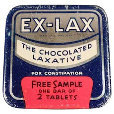Vintage Medicine Tin - Old Ex-Lax Tablets Sample Tin - Medical Tin