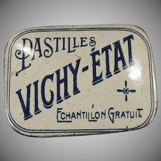 Vintage Vichy-Etat Pastilles - Old Medicine Sample Tin