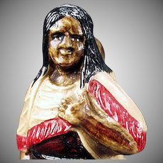 Vintage Perfume Holder - Celluloid Indian Woman - Germany