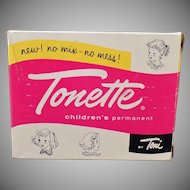 Vintage Tonette Box - Old Toni Children's Permanent Box