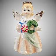 Vintage Birthday Angel - Old December Christmas Angel - 1950's - 1960's