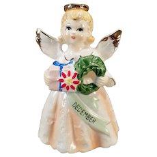 Vintage Birthday Angel - Old December Christmas Angel - 1950's - 1960's