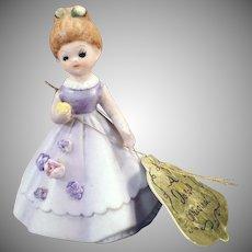 Vintage Josef Original – Old Wedding Belle Bell – Dressed in Lavender