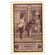 Vintage Masonic Postcard Lodge for Kids - Riding Goat – Mason Never Tells