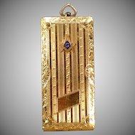 Vintage Masonic Card Case – Old Watch Fob with Freemasonry Emblem
