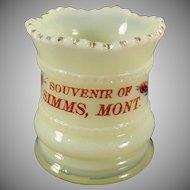 Vintage Heisey Glassware - Old Heisey Custard EAPG Toothpick - Montana Souvenir