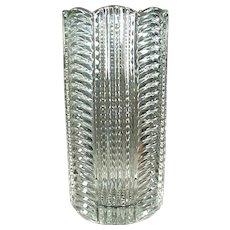 Vintage Heisey Glassware - Old Ridgeleigh Pattern Vase in Clear