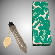 Vintage Djer Kiss Perfume Bottle – Icicle Ornament Bottle with Christmas Gift Box