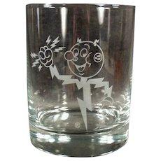 Vintage Power Company Advertising Glass - Old Reddy Kilowatt Highball Glass