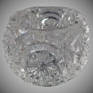 Vintage Salt Dip - Old Pressed Glass - Individual Salt Dip