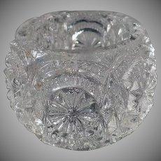 Vintage Salt Dip - Old Pressed Glass - Individual Salt Dip