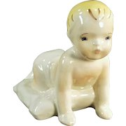 Vintage California Pottery - Old Dadson Artware - Crawling Toddler Figurine