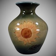 Vintage Wade Ireland Art Pottery - Old Mourne Range Vase with Sunflower