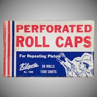 Vintage Kilgore Perforated Roll Caps for Old Repeating Pistols – Large Unopened Box