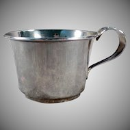 Vintage Baby's Cup - Old Sterling Silver Cup with Detailed Floral - No Monogram
