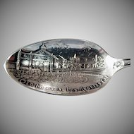 Vintage Los Angeles Mission Sterling Silver Souvenir Spoon - Seal of California, More