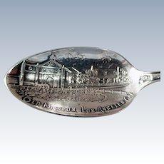 Vintage Los Angeles Mission Sterling Silver Souvenir Spoon - Seal of California, More