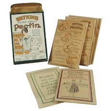 Vintage J.R Watkins Product - Old Pectin Box with Nice Graphics