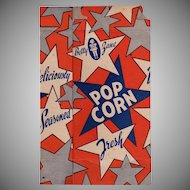 Vintage Pop Corn Box - Old Betty Zane Popcorn Box - ca 1945 10c Size - Never Used
