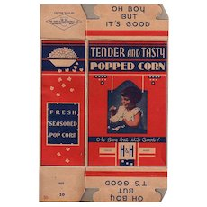 Vintage H & H  Popcorn Box with Little Girl