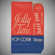 Vintage Jolly Time Popcorn Box - Never Used Old Pop Corn Box