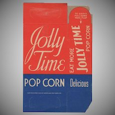 Vintage Jolly Time Popcorn Box - Never Used Old Pop Corn Box