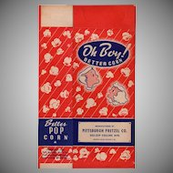 Vintage Popcorn Box - Old Oh Boy! Better Corn with Children - Unused