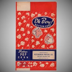 Vintage Popcorn Box - Old Oh Boy! Better Corn - Colorful Graphics with Children - Unused