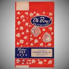 Vintage Popcorn Box - Old Oh Boy! Better Corn with Children - Unused