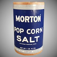 Vintage Popcorn Salt Box - Old Morton Pop Corn Salt Cardboard Box ca. 1950's
