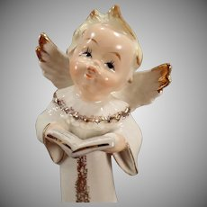 Vintage Porcelain Angel – Old Semco Figurine – Angel with Hymn Book