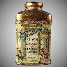 Vintage Talc Tin - Old Sample Vantine's Kutch Sandalwood Talcum Miniature Tin